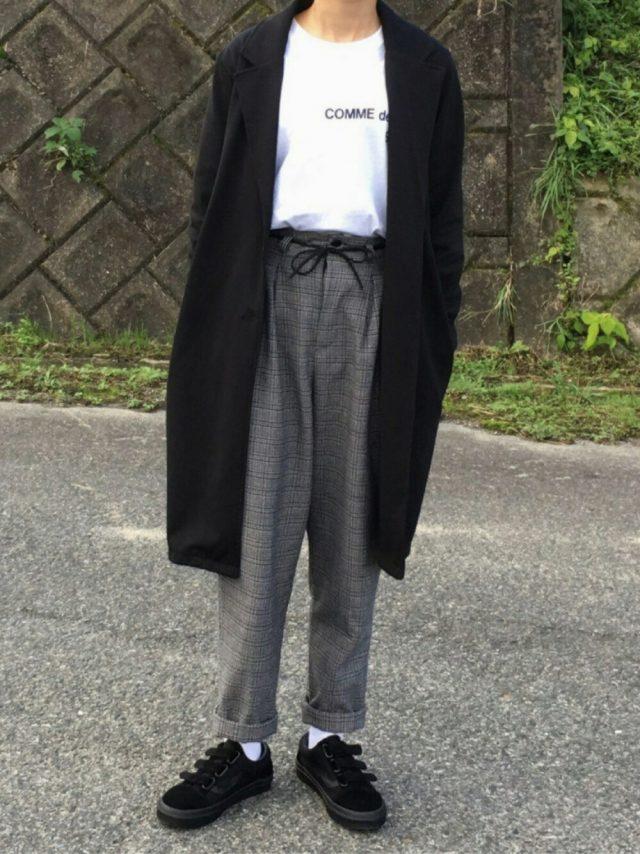 コムデギャルソンを着たコーデ
