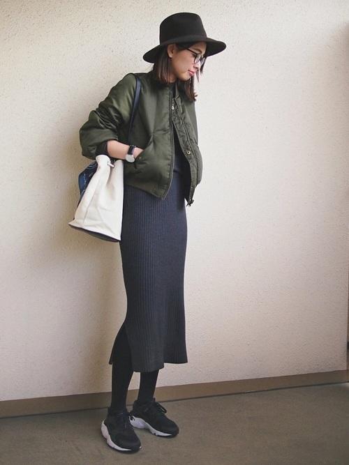 MA-1を着る女性