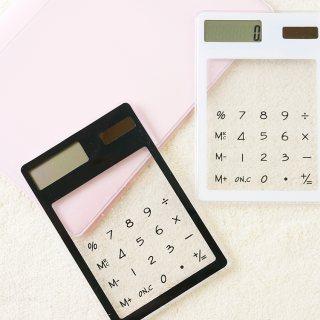 ダイソースケルトン電卓商品画像