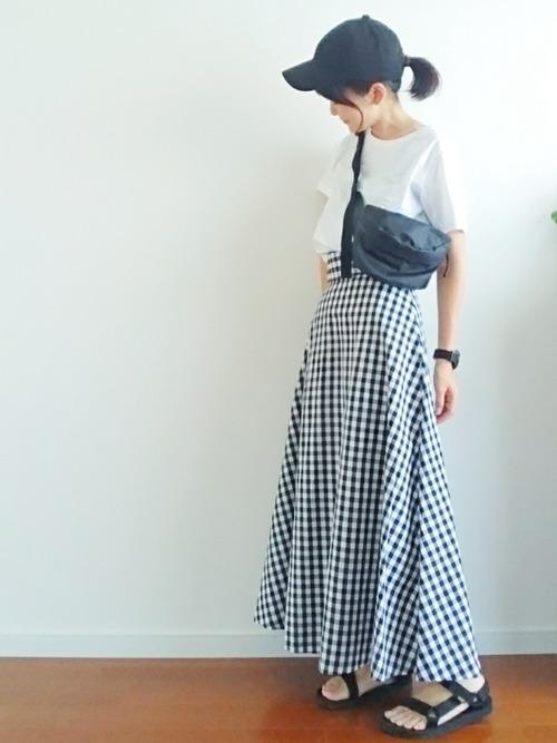 GU   フレアロングスカート(ギンガム) Sサイズ(スカート) GU フレアロングスカート(ギンガム) Sサイズ