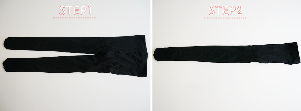 タイツ&ストッキングのたたみ方②の工程の写真