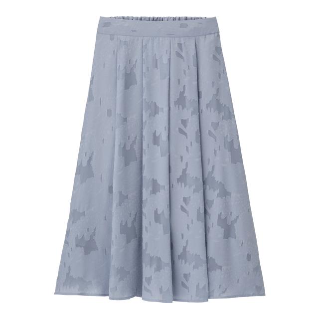 GUの1000円以下の夏物フラワージャガードロングスカート
