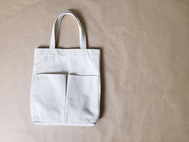 無印良品インド綿縦型マイトートバッグ
