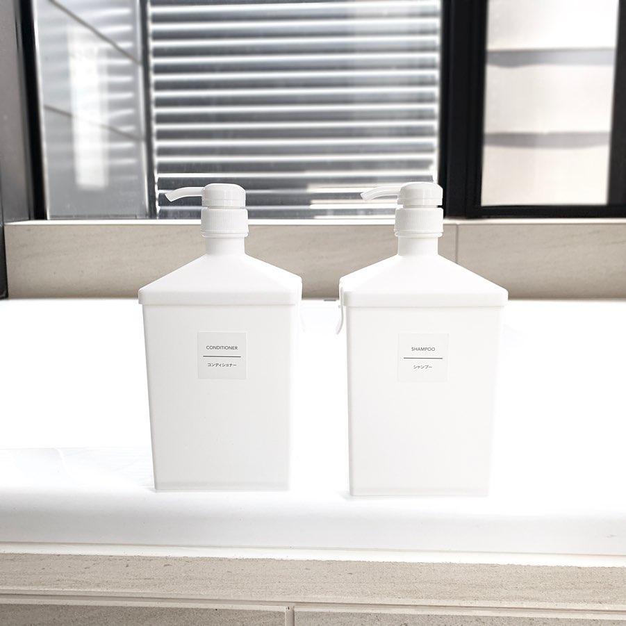 100均のポンプ式液体容器
