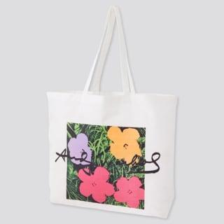アンディーウォーホルの花柄エコバッグ
