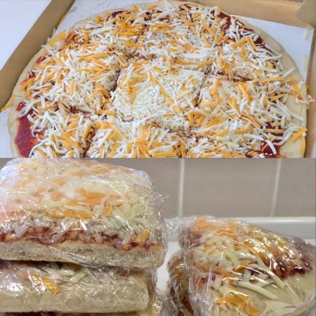 コストコの丸形ピザ5色チーズ保存方法