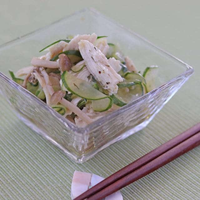 成城石井_マリネの素を使った鶏むね肉としめじのサラダ