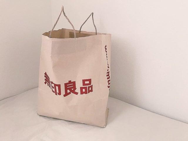 無印良品のポリエチレンシートミニトートバッグ紙袋