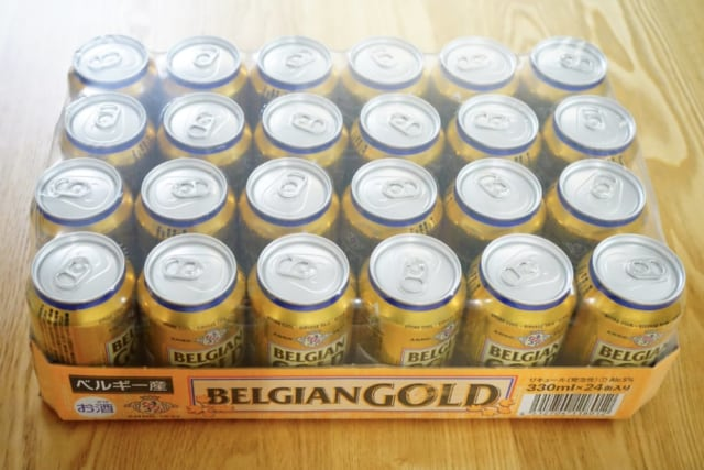 ベルジャンゴールドビール24缶入ケース