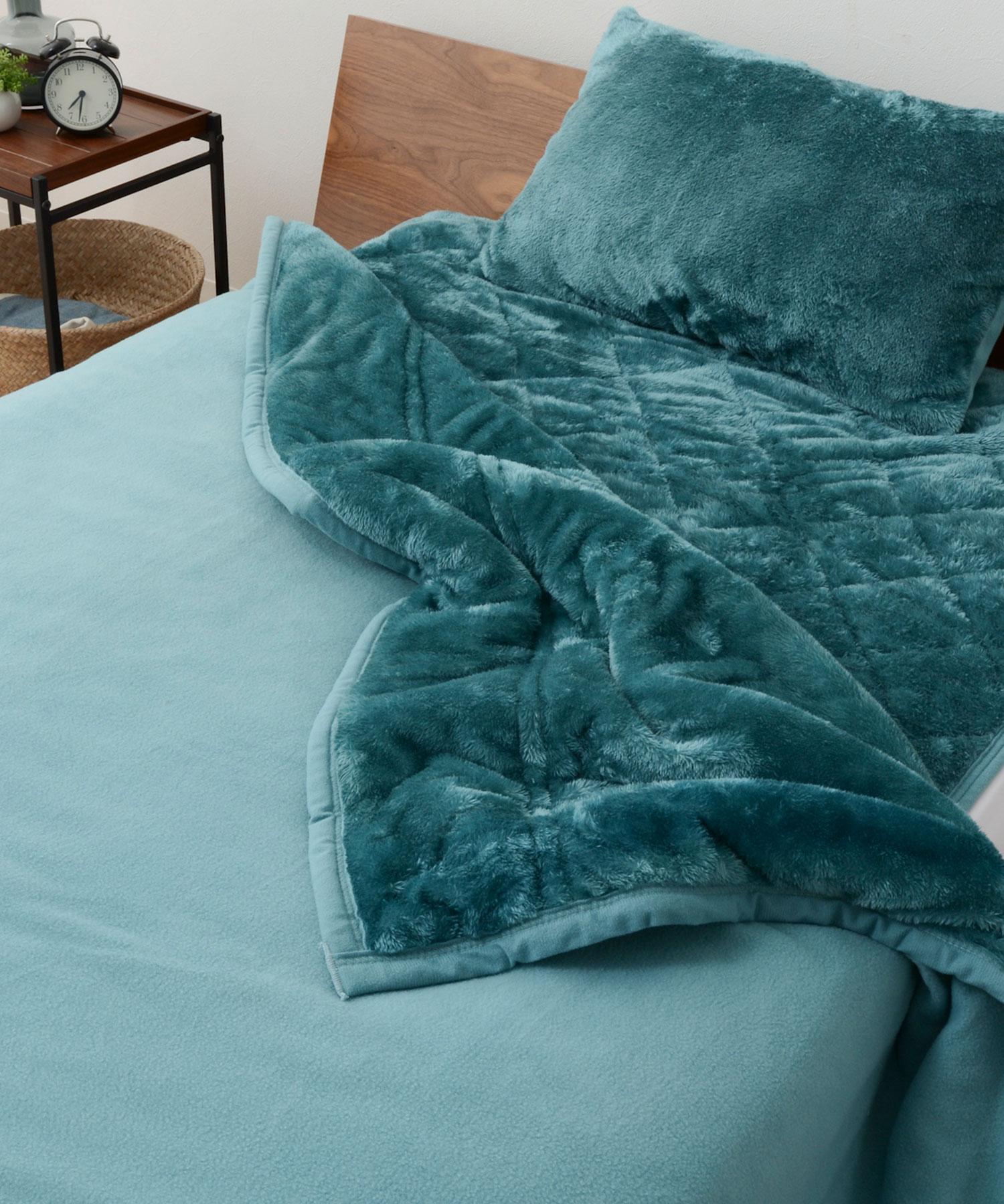 エムールヒート2枚合わせ綿入り毛布シングル