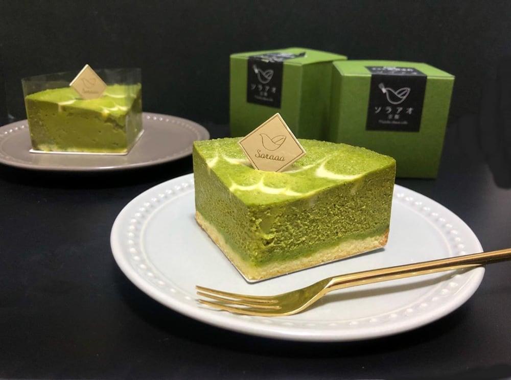 京都の宇治抹茶を利用した本格ケーキ