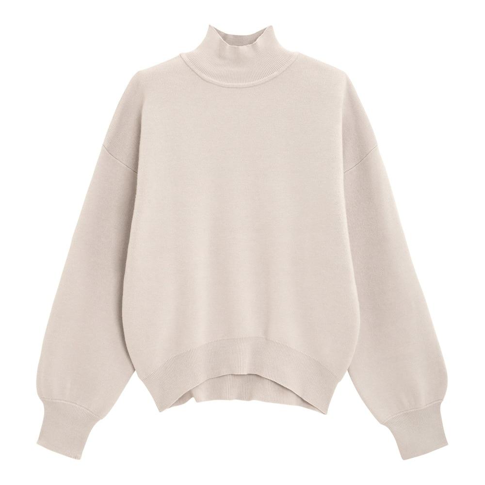 GUのスウェットライクハイネックセーター