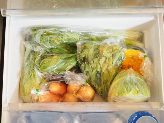 ビオマルシェのお試しセットを野菜室に収納