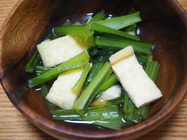 小松菜と油揚げのおひたし