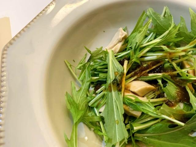 水菜とゴマ豆腐のサラダ