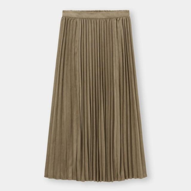 GUのフェイクスエードプリーツスカート