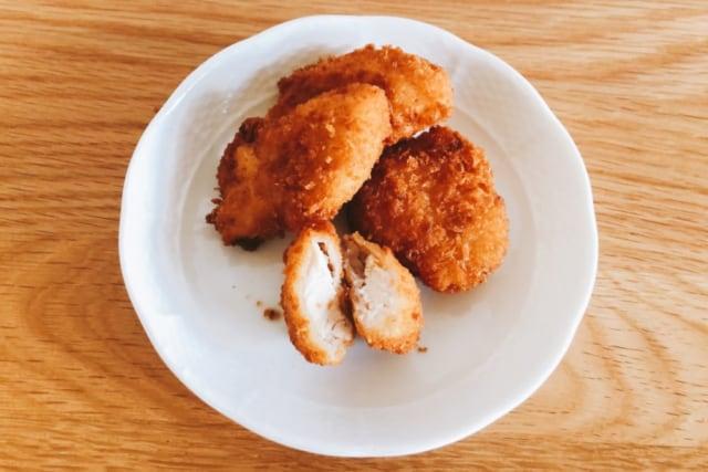 業務スーパー 鶏屋さんの冷凍チキンカツ 揚げたもの