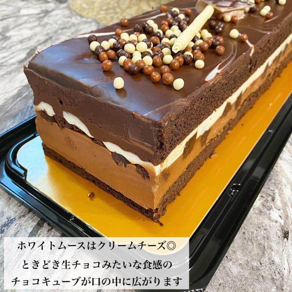 濃厚で様々な食感が楽しめる美味しいケーキ