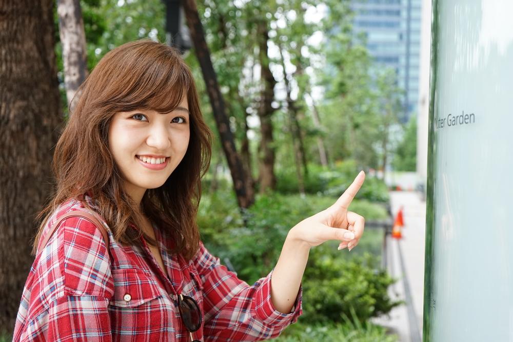 笑顔の可愛い女性