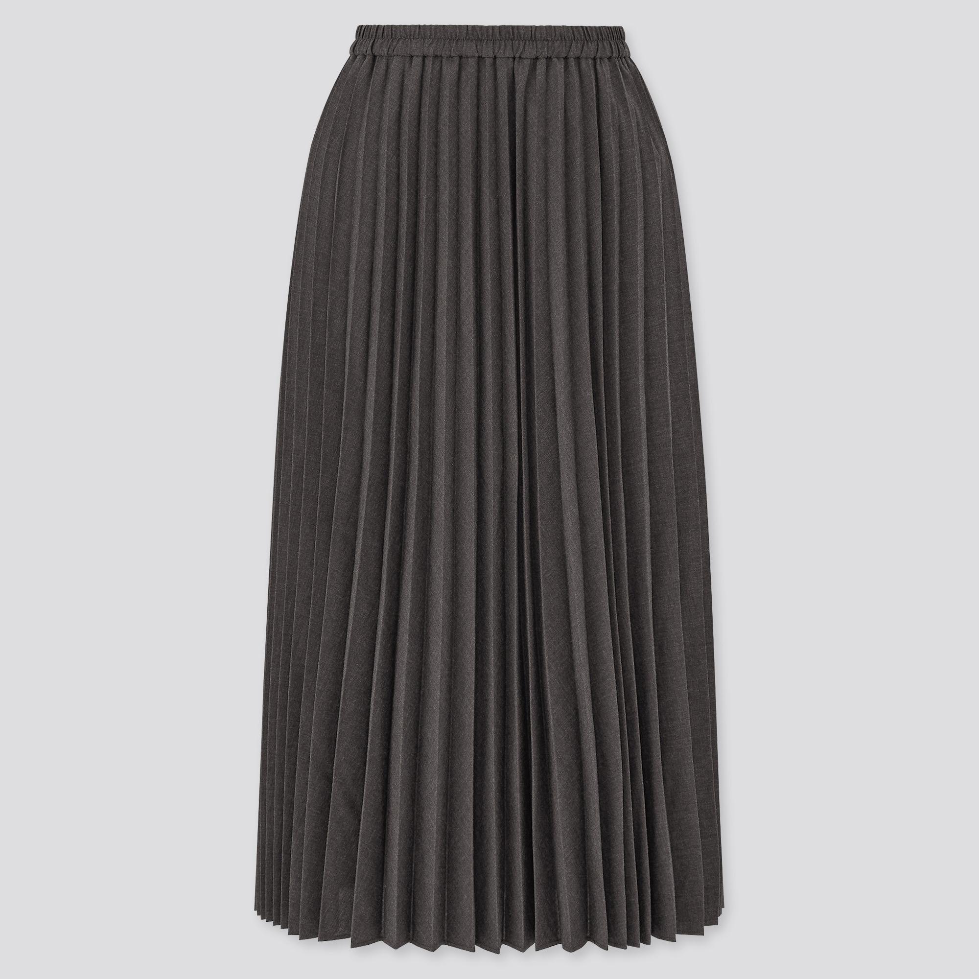 アコーディオンプリーツロングスカート