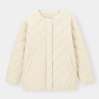 白のキルティングジャケット