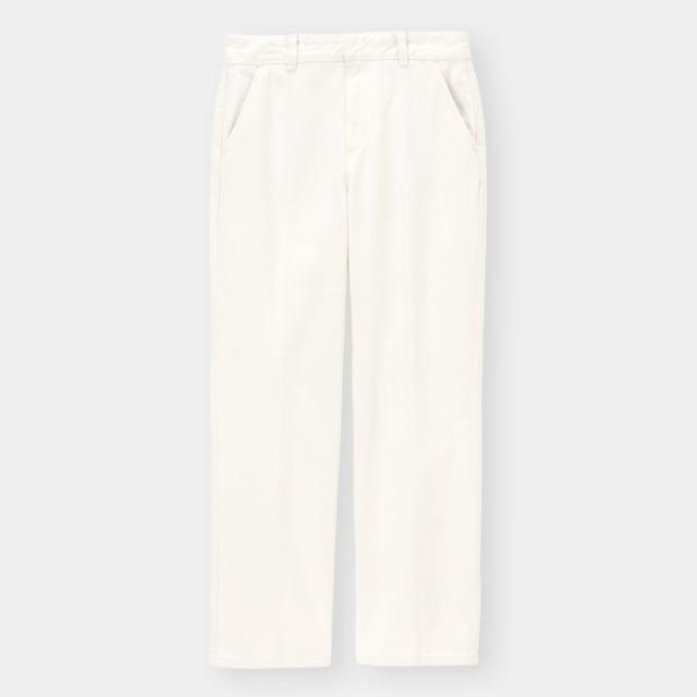 GUのセンタープレスストレートジーンズ