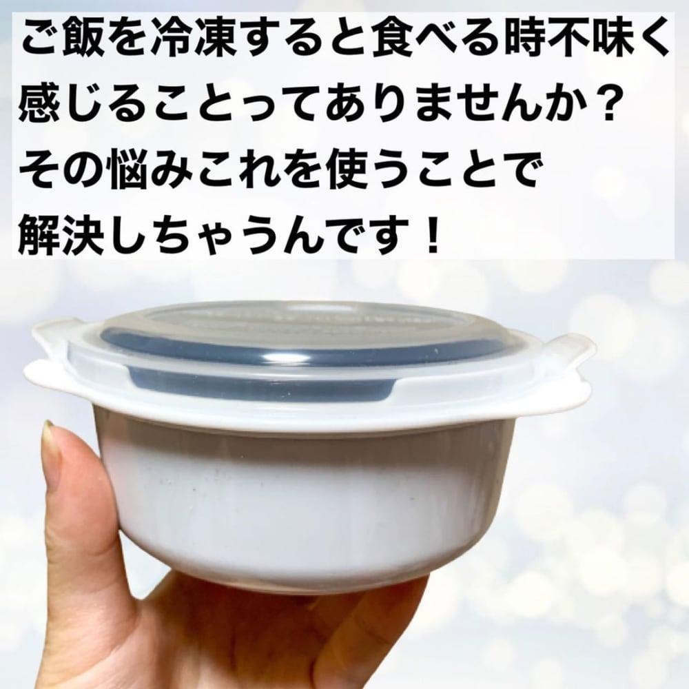 ダイソー「冷凍ご飯保存容器」