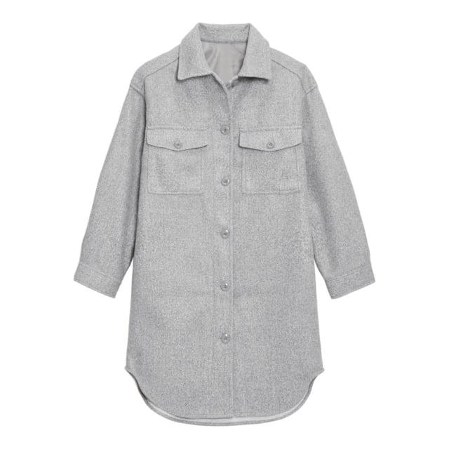 グレーのCPOロングジャケット