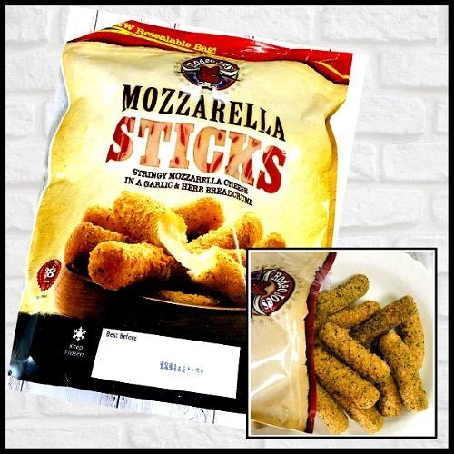 コストコのモッツァレラチーズスティックのパッケージ写真