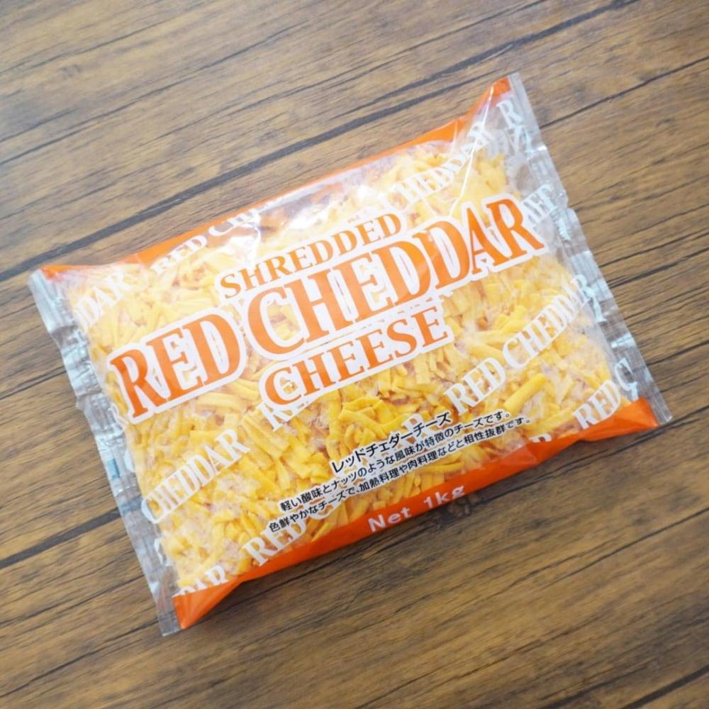 コストコ シュレッドレッドチェダーチーズのパッケージ写真