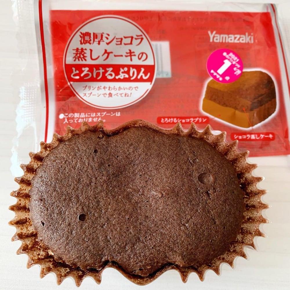 濃厚ショコラ蒸しケーキのとろけるぷりん