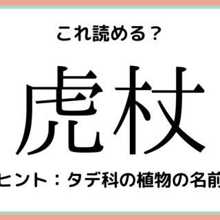 難しい漢字虎杖