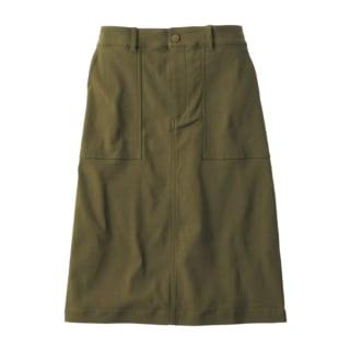 カーキ色のベーカースカート