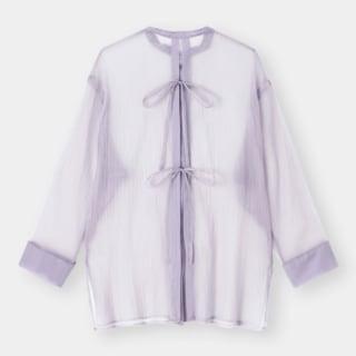 シアーバックリボンシャツ