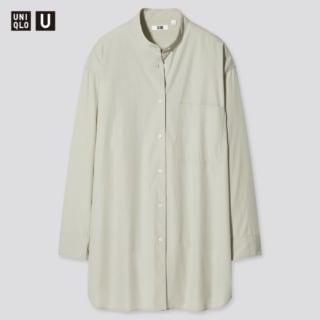 オーバーサイズシャツ(長袖)のライトグリーン