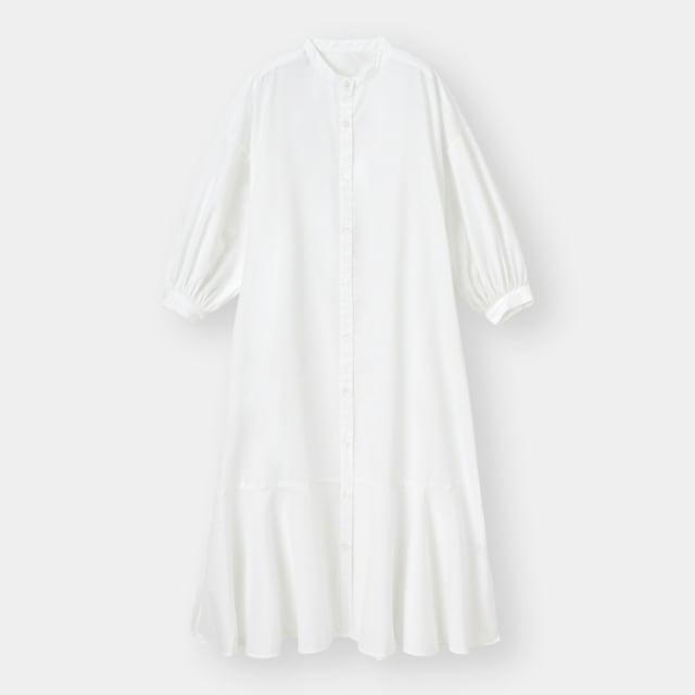 GUのバンドカラーシャツワンピース