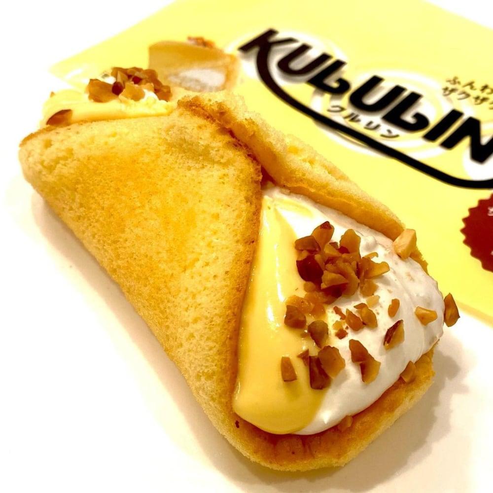 ローソンのクルリンザクふわくるりんケーキチーズの写真