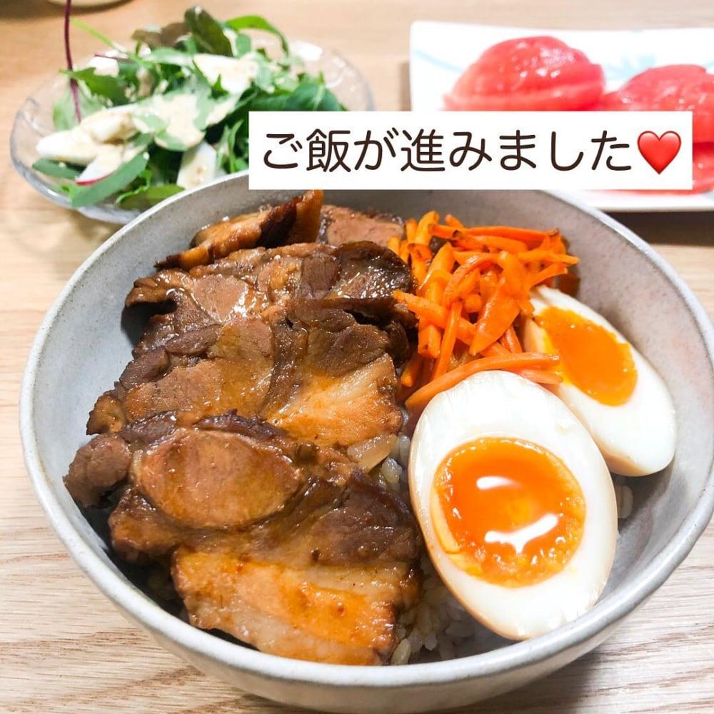 業務スーパーのやわらか煮豚で作った丼の写真