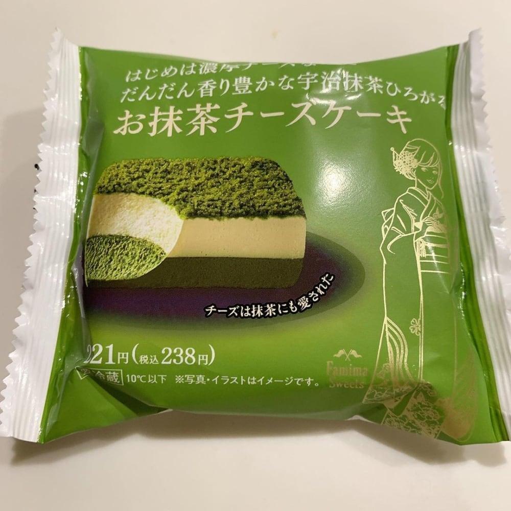 ファミリーマート「お抹茶チーズケーキ」