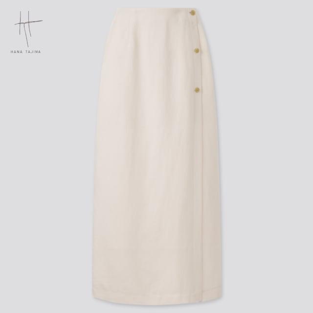 ユニクロのレーヨンリネンラップスカート