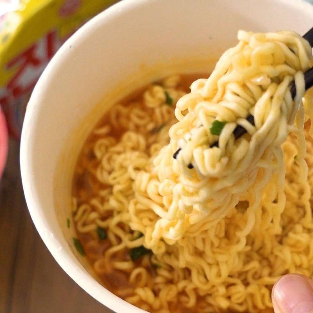 コストコのジンラーメンの麺の写真