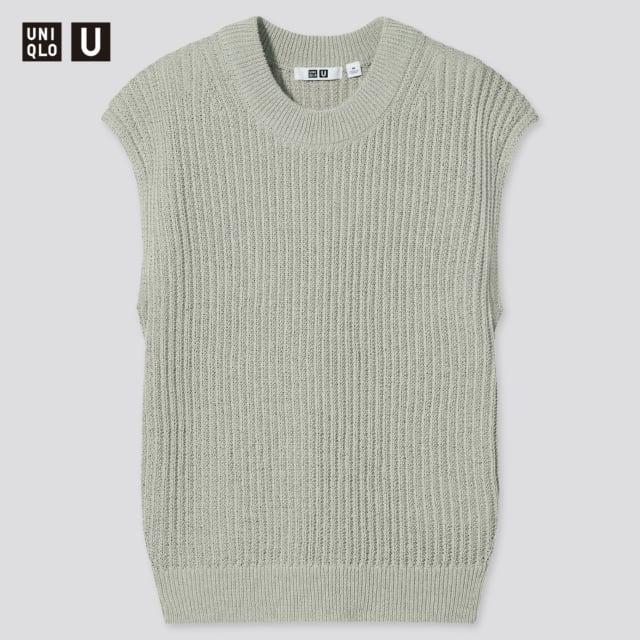 コットンブレンドクルーネックセーター