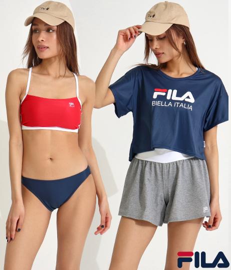 フィラのTシャツセットの水着の着用画像2バーション