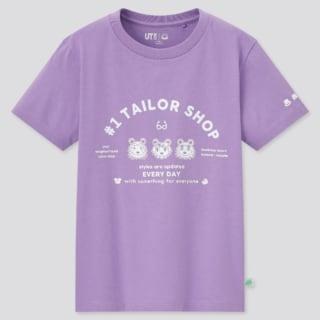 ユニクロのKIDSあつまれどうぶつの森UTグラフィックTシャツの写真