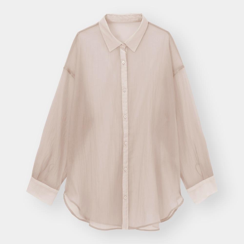 GUのシアーロングシャツの写真