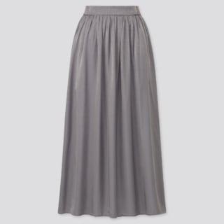シャイニーギャザーロングスカート