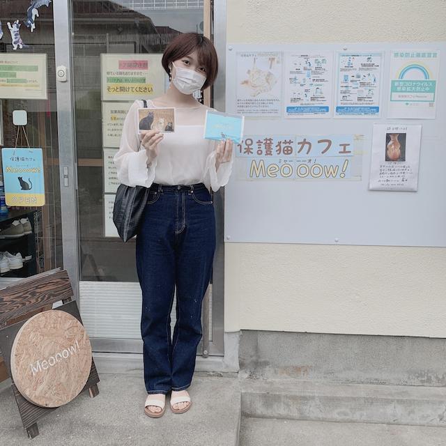 保護猫カフェMeooow!の店舗入口