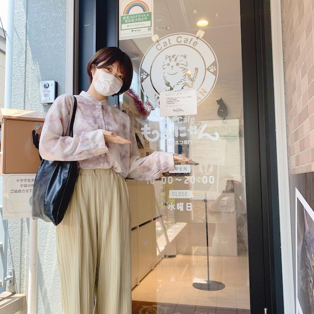 猫カフェもふにゃんの店舗入口