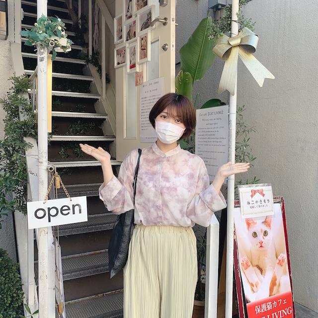 保護猫カフェCAT LIVING店舗入口