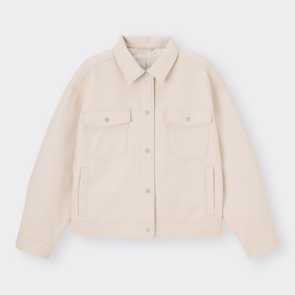 GUのフェイクレザーショートジャケット